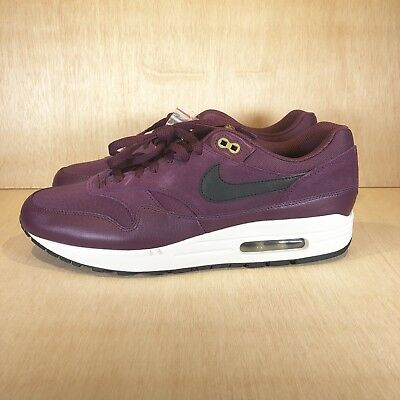 timeless design c94d2 333ee Nike Air Max 1 Premium Mens Size 11.5 Shoes Bordeaux Maroon Dessert 875844  601