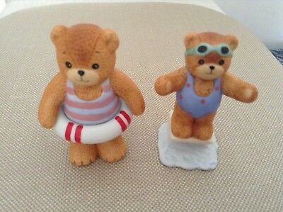 Lucy Rigg - Enesco Lucy And Me Bears - Swimming Bears - 1980's