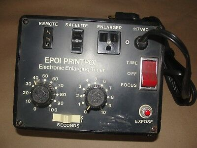 Used Epoi Printrol Electronic Enlarging Timer-Working Condition