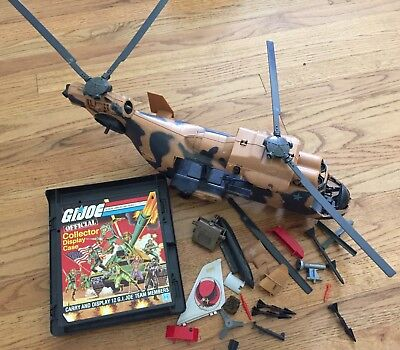 Vintage Lot Of 80s Gi Joe Toys Tomahawk Helicopter 1982 Carrying