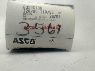 ASCO 8320G184 120//60AC 3-Way Brass 1//4 In Solenoid Valve S#24-2