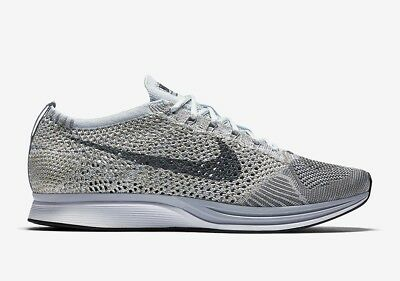 50831f515e3f NIKE Flyknit Racer Pure Platinum Earth Tones Cool Grey White 862713 002 -  Sz 10