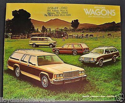 1979 Ford Station Wagon Catalog Brochure LTD Country Squire Fairmont Pinto Club