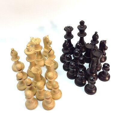 Wooden Chess Pieces Set