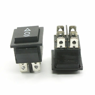 """ROCKER SWITCH """"SQUARE"""" ON-OFF-ON DPDT - Sunroof Windows Switch  12V - 20Amp"""