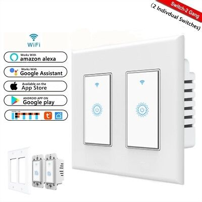 Smart Wifi Light Switch 2-Gang Works with Amazon Alexa Google Home IFTTT