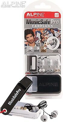 Alpine MusicSafe Pro Earplugs Reusable Party Noise Block Safety DJ Ear Plugs