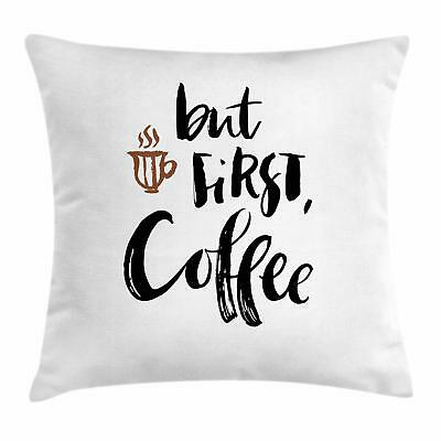 Coffee Throw Pillow Cases Cushion Covers by Ambesonne Home Accent Decor 8 Sizes