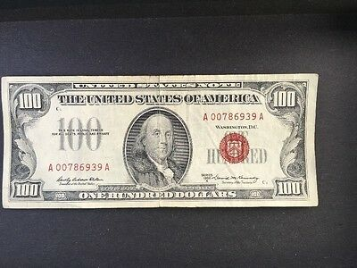 1966A $100 One Hundred Dollar Legal Tender Elston-Kennedy Circulated