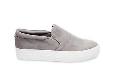 f0f7df15d81 ⭐️ Steve Madden ⭐️ Gills Suede Gray Platform Slip On Shoes Nib Womens Size  7.5