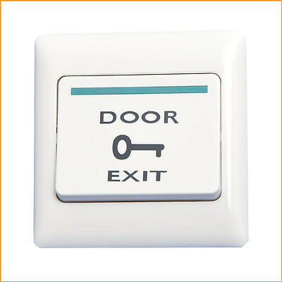 Door Touch Exit Button Push Home Release Switch Panel Access Control Plastic