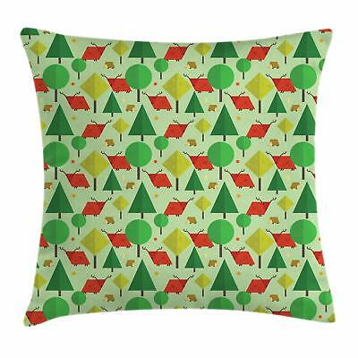 Forest Throw Pillow Cases Cushion Covers by Ambesonne Home Accent Decor 8 Sizes