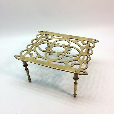 Antique Brass Trivet / Pot Stand