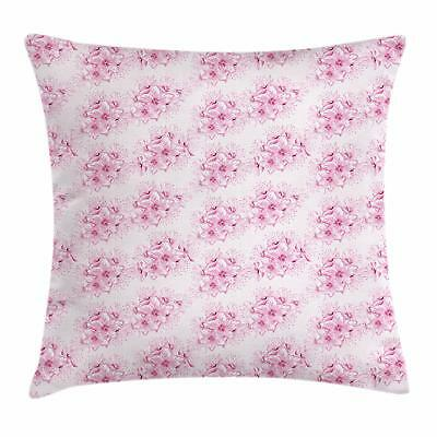Cherry Blossom Throw Pillow Cases Cushion Covers by Ambesonne Home Decor 8 Sizes