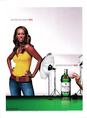 Iman 1-page clipping 2002 ad for Tanqueray