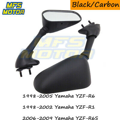Racing Replacement Mirrors For Yamaha YZF R6 R1 1998 1999 2000 2001 2002