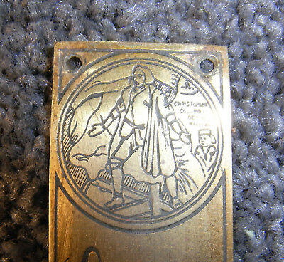 NEW World's Columbian Exposition, Chicago, 1893 Brass Badge By Strauch Bros