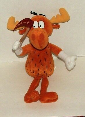 Collectible 1999 Stuffins Bullwinkle Stuffed Animal Toy Wossamota Flag R