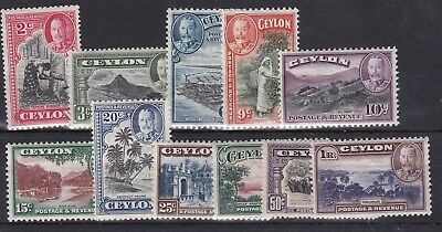 BC128) Ceylon 1935 definitives, SG 368/78. Fresh mint, very lightly hinged