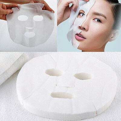50pcs White Enlarged Cotton Facial Mask Sheets DIY Skin Care Cosmetic Tool