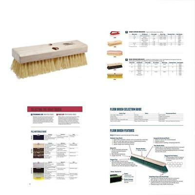"Weiler 44434 Polypropylene Deck Scrub Brush With Wood Head, 4"" Width, 10"" Length"