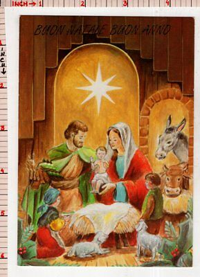 buon natale happy new year wish religious christian picture postcard 80664