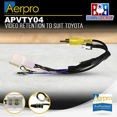 Aerpro APVTY04 OEM Reverse Camera Retention Harness Suits Toyota 4-Pin