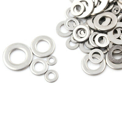 105Pcs/set M3 M4 M5 M6 M8 M10 304 Stainless Steel Metric Flat Washers Tool  X
