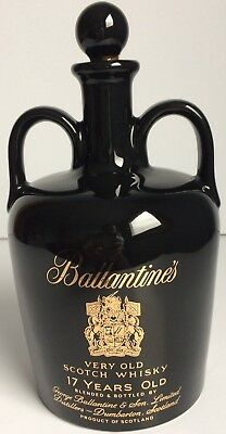 Vintage Ballantine's 17 Year Old Scotch Whisky Ceramic Double Handle Decanter