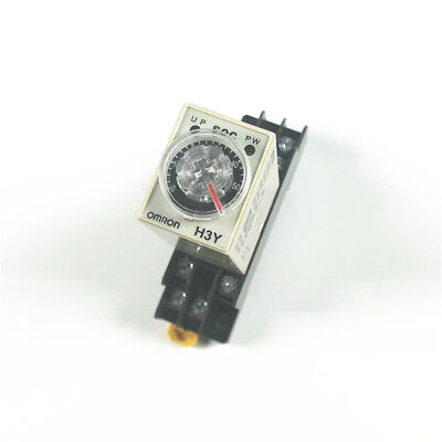 12VDC H3Y-2 Power On Time Delay Relay Solid-State Timer 0-60S DPDT 8P&Socket US