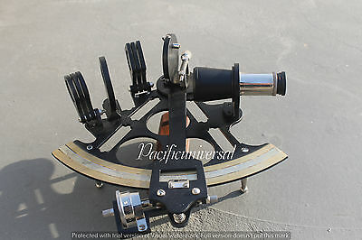 """Nautical Sextant Marine Astrolabe Vintage Ships Working Instrument Gift 8"""" Item."""