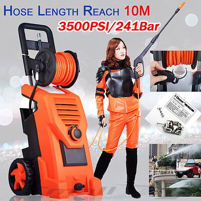 NEW-3500 PSI 50HZ High Pressure Washer Pump 10M Hose Gurney Water E-Cleaner-2018