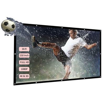 150'' Portable Projector Screen HD 16:9 Foldable Projection HD for Home Theater
