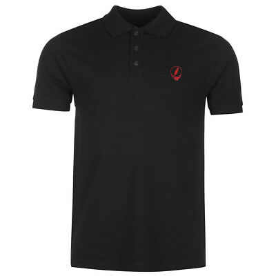 Mens Grateful Dead Steal Your Face SYF Skull Embroidery Polo Shirts