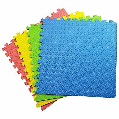Interlocking Soft Tiles Kids Play Floor Foam Mats Baby Exercise Gym Eva Title