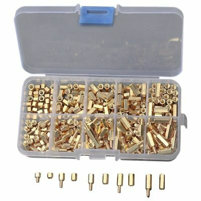 300 Stk/ Kit M3 Schraubmutter 4-12mm Spalte Threaded Motherboard Standoffs F4L5