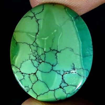 19.00Cts. 100% NATURAL UNTREATED TIBET TURQUOISE OVAL CABOCHON GORGEOUS GEMSTONE