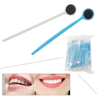 100pcs Disposable Plastic Dental Mouth Glass Mirror Dental Reflector ys