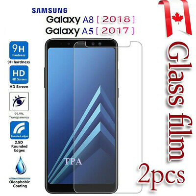 2X Samsung Galaxy A8 2018 Tempered Glass / Pet LCD Screen Protector Film Guard