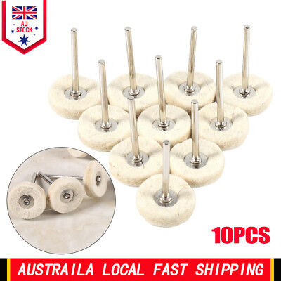 10X Wool Felt Polishing Buffing Drill Grinder Wheel Brushes For Dremel Rotary