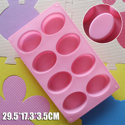 Oval Round Soap Mold Silicone Chocolate Cake Mould Baking Homemade Jelly Making