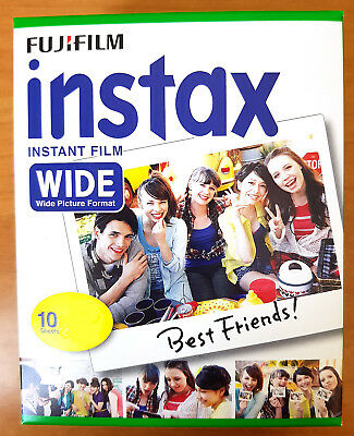 FUJIFILM INSTAX INSTANT FILM WIDE PICTURE CAMERA 200 210 300 1x10 PRINTS PACK
