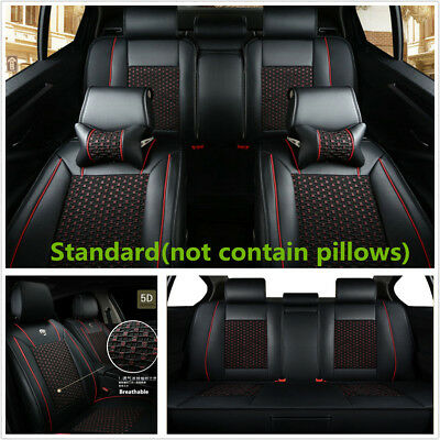 Standard Edition Full Set Car Seat Cover Leather+Ice Silk Seat Protector Cushion