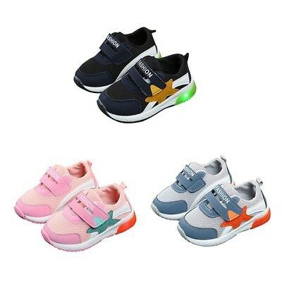 Toddler Unisex Boys Girls Kids Baby Light Up  Athletics Sports Shoes LED Shoes