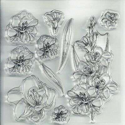 Flowers Transparent Clear Silicone Stamp for DIY scrapbooking/photo album Decor