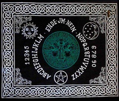 60cm Tree of life Ouija Board Altar or Tarot Cloth Cotton Wall Hanging Table ...