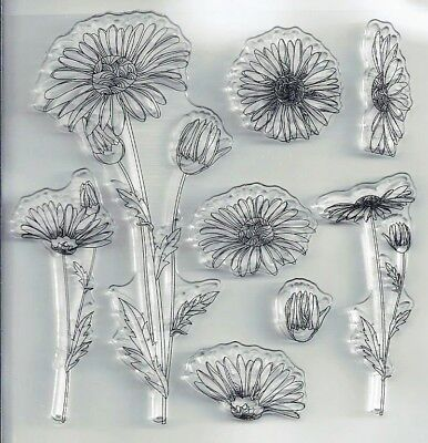 Flower Transparent Clear Silicone Stamp for DIY scrapbooking/photo album Decor