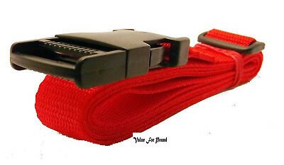 25Mm Adjustable Webbing Belt With Quick Release Buckle Red