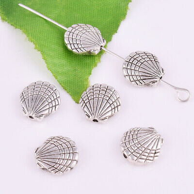 Tibetan Silver Shell Spacer Beads Metal Loose Jewelry Findings 10mm
