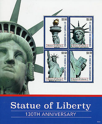 St Vincent & Grenadines 2016 MNH Statue of Liberty 4v M/S Architecture Stamps